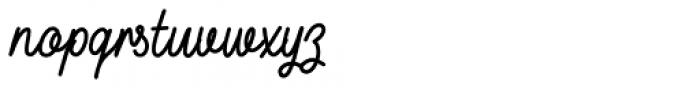 Buckwheat TC Script Regular Font LOWERCASE