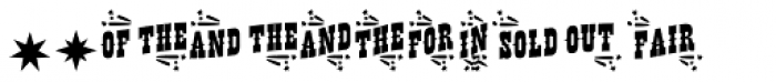 Buffalo Circus Catchwords Font OTHER CHARS