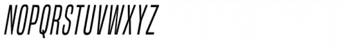 Built Light Italic Font UPPERCASE