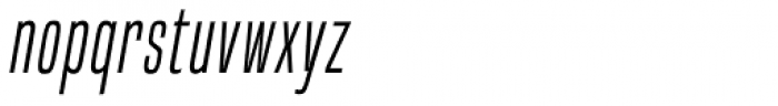 Built Light Italic Font LOWERCASE