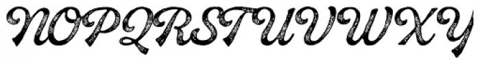 Buinton Rough Three Font UPPERCASE