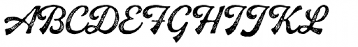Buinton Rough Two Font UPPERCASE