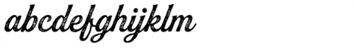 Buinton Rough Two Font LOWERCASE