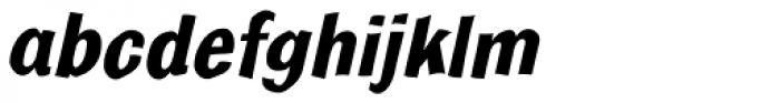 Bulldog Crazed Bold Tilt Font LOWERCASE