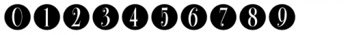 Bullet Numbers Bodoni Cond Neg Font OTHER CHARS