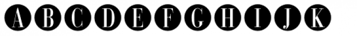 Bullet Numbers Bodoni Cond Neg Font UPPERCASE