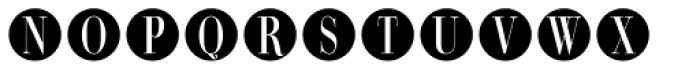 Bullet Numbers Bodoni Cond Neg Font LOWERCASE