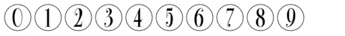 Bullet Numbers Bodoni Cond Pos Font OTHER CHARS