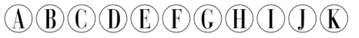 Bullet Numbers Bodoni Cond Pos Font LOWERCASE