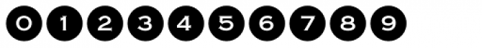 Bullet Numbers Copperplate Neg Font OTHER CHARS
