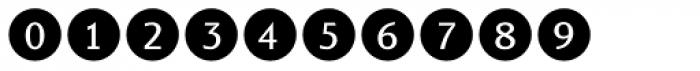 Bullet Numbers Sans Neg Font OTHER CHARS