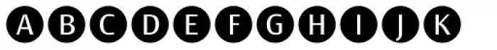 Bullet Numbers Sans Neg Font UPPERCASE
