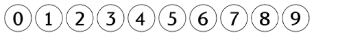 Bullet Numbers Sans Pos Font OTHER CHARS