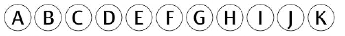 Bullet Numbers Sans Pos Font LOWERCASE