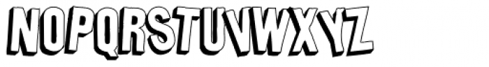 Bulletin Shadow Font LOWERCASE