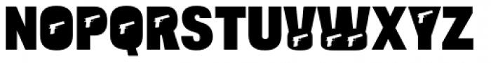 Bulltoad Pistol Font UPPERCASE