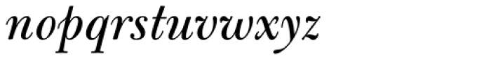 Bulmer Pro Italic Font LOWERCASE