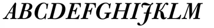 Bulmer Std SemiBold Italic Font UPPERCASE