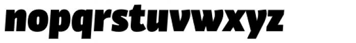 Bulo UltraBlack Italic Font LOWERCASE