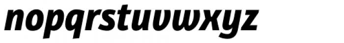 Bunaero Pro Extra Bold Italic Font LOWERCASE