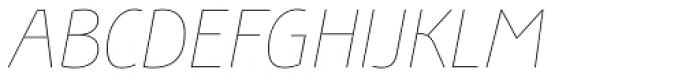 Bunaero Pro Hair Italic Font UPPERCASE