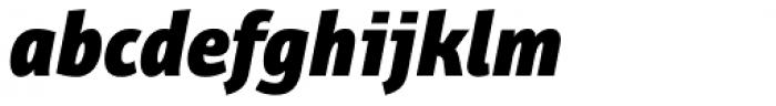 Bunaero Pro Heavy Italic Font LOWERCASE