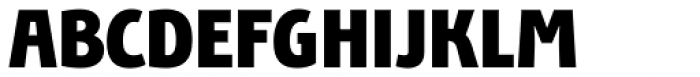 Bunaero Pro Heavy Up Font UPPERCASE
