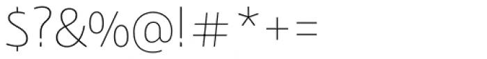 Bunaero Pro Thin Classic Font OTHER CHARS