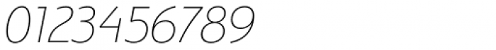 Bunaero Pro Thin Italic Font OTHER CHARS