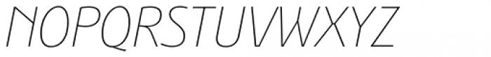 Bunaero Pro Thin Italic Font UPPERCASE