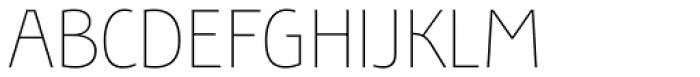 Bunaero Pro Thin Up Font UPPERCASE