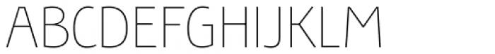 Bunaero Pro Thin Font UPPERCASE
