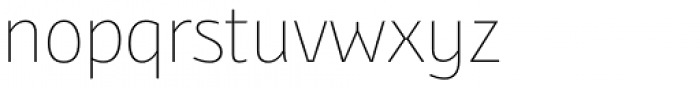 Bunaero Pro Thin Font LOWERCASE