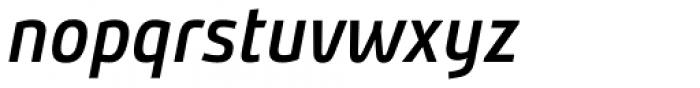 Bunday Clean Semi Bold It Font LOWERCASE