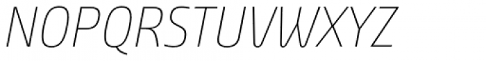 Bunday Clean Thin Up It Font UPPERCASE