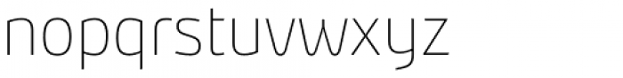 Bunday Clean Thin Font LOWERCASE