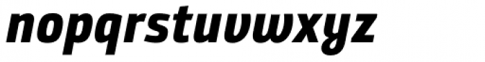 Bunday Sans ExtraBold Up It Font LOWERCASE