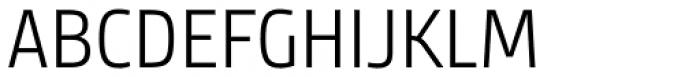 Bunday Sans Semi Light Font UPPERCASE