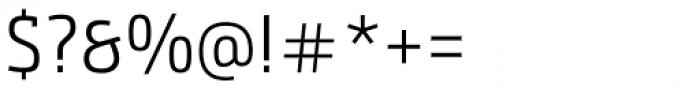 Bunday Slab SemiLight Font OTHER CHARS