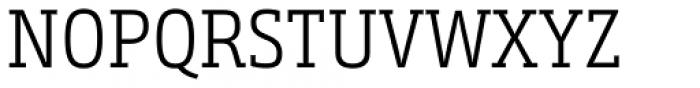 Bunday Slab SemiLight Font UPPERCASE