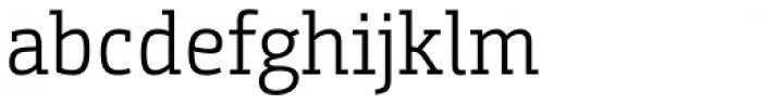 Bunday Slab SemiLight Font LOWERCASE