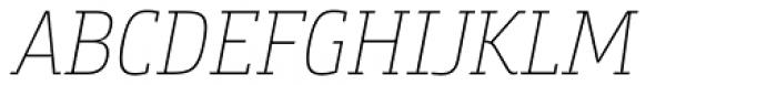 Bunday Slab Thin It Font UPPERCASE