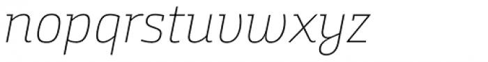 Bunday Slab Thin It Font LOWERCASE
