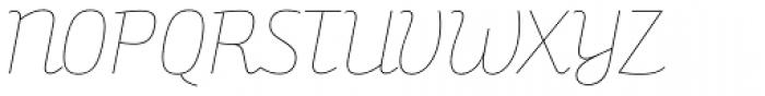Bunita Swash Hair Font UPPERCASE