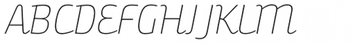 Bunita Swash Thin Font UPPERCASE