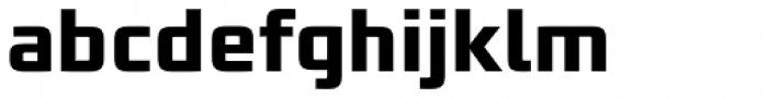 Bunken Tech Sans Pro Bold Font LOWERCASE