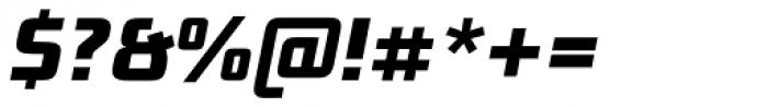 Bunken Tech Sans Pro Extrabold Italic Font OTHER CHARS
