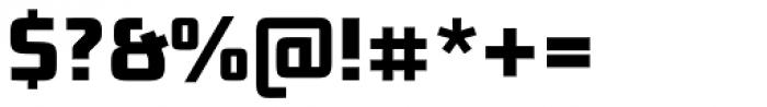 Bunken Tech Sans Pro Extrabold Font OTHER CHARS