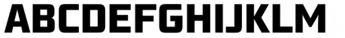 Bunken Tech Sans Pro Extrabold Font UPPERCASE