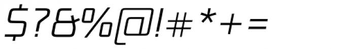 Bunken Tech Sans Pro Light Italic Font OTHER CHARS
